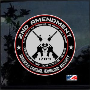 2nd Amendment Original Homeland Security Decal Sticker