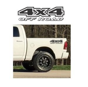 4x4 Off Road Truck Bed Decal Sticker set of 2 a16