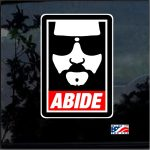 Dude Abide Full Color Decal  - Cool Stickers