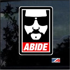 Dude Abide Color Decal Sticker