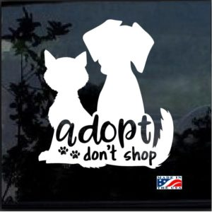 Adopt Dont Shop Decal Sticker