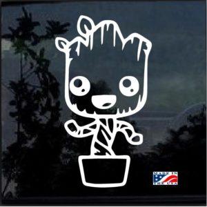 Baby Groot Pot Decal Sticker