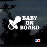 Pacifier - Baby on Board Sticker