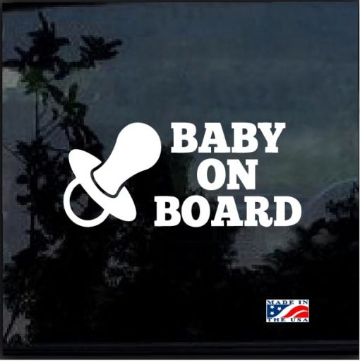 Baby On Board Pacifier Decal Sticker