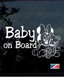 Baby on Board Minnie bear Decal sticker