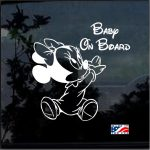 Minnie Mouse  - Baby on Board Sticker