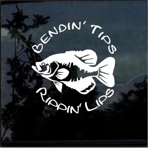 Bending Tips and Rippin Lips Fishing Decal Sticker
