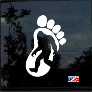 Bigfoot Silhouette Window Decal Sticker