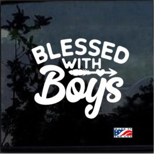 Blessed with boys mom decal sticker