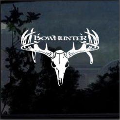 Bow hunter Buck Deer Skull Window Decal Sticker