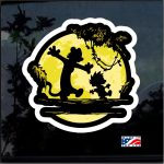 Calvin and Hobbs No worries Full Color Decal  - Cool Stickers