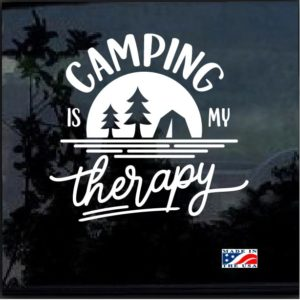 Camping is my therapy Window Decal Sticker