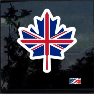 Canada Flag Leaf Full Color Decal Sticker