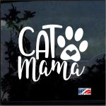 Cat Mama Heart Paw Decal - Cat Stickers