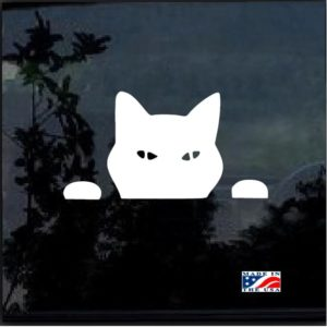Cat Peeking Window Decal Sticker