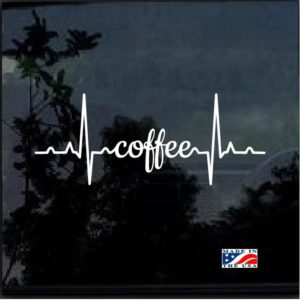 Coffee Heartbeat Decal Sticker
