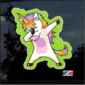 Dabbing unicorn Full Color Decal Sticker