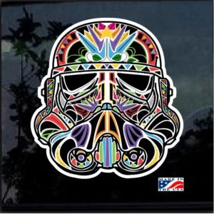 Day of the Dead Storm Trooper Full Color Decal Sticker
