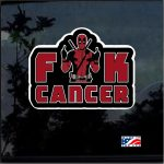 Deadpool Fuck Cancer Full Color Decal  - Cool Stickers