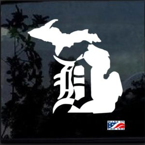 Detroit Tigers Michigan Window Decal Sticker