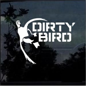 Dirty Bird Waterfowl Duck Hunting Decal Sticker