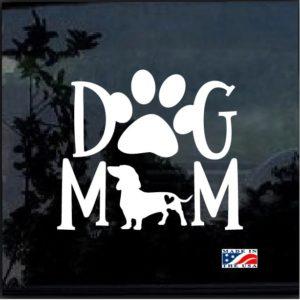 Dog Mom Dachshund Decal Sticker
