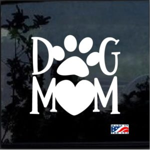 Dog Mom Heart Decal Sticker