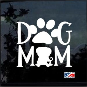 Dog Mom Pug Decal Sticker
