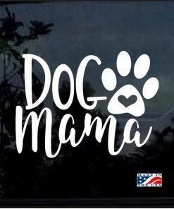 Dog mama Heart Paw Decal Sticker