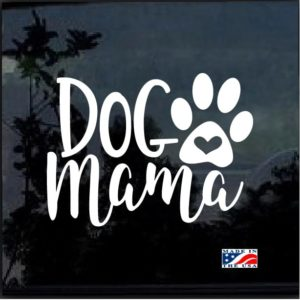 Dog mama Heart Paw Decal Sticker