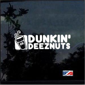 Dunkin Deeznuts Window Decal Sticker