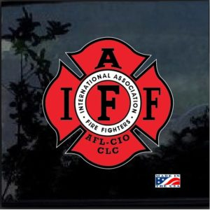 Fire Fighters International Association IAFF Full Color Decal Sticker
