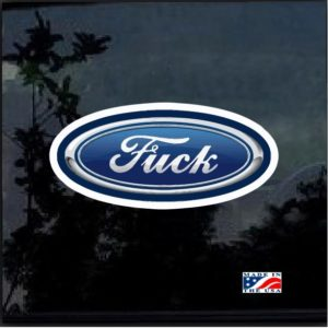 Ford Fuck Parody Full Color Decal Sticker