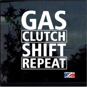 Gas Shift Clutch Repeat Decal Sticker
