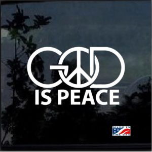 God is Peace Window Decal Sticker