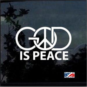 God is Peace Window Decal Sticker