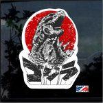 Godzilla Shadow Gojira Kaiju Full Color Decal  - Cool Stickers
