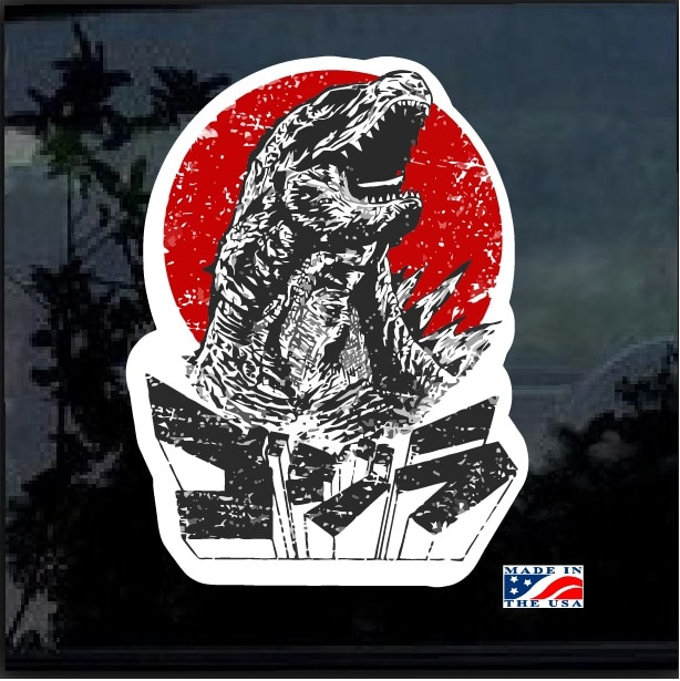 Godzilla Shadow Gojira Kaiju Full Color Decal Sticker