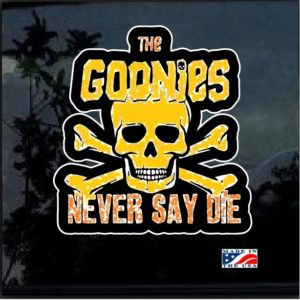 Goonies never say die Full Color Decal Sticker