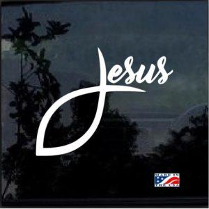 Jesus Fish Decal Sticker a4