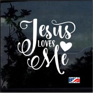 Jesus Loves Me Decal Sticker