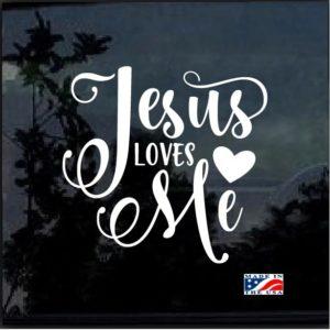 Jesus Loves Me Decal Sticker