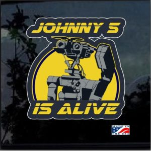 Johnny 5 is alive Full Color Decal Sticker