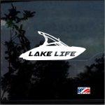 Lake Life Ski Boat Window Decal Sticker