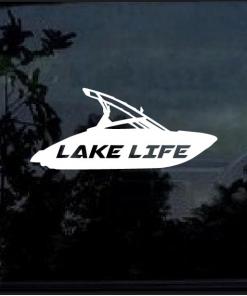 Lake Life Ski Boat Decal Sticker