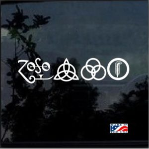 Led Zepplin Runes all 4 Decal sticker