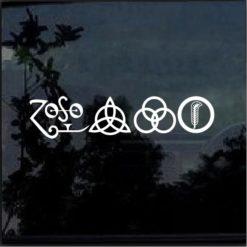 Led Zepplin Runes all 4 Decal sticker