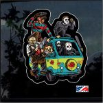Massacre machine horror Full Color Decal  - Cool Stickers