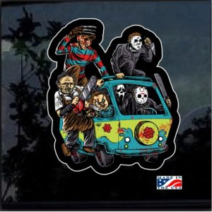 Massacre machine horror decal sticker