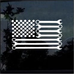 Mechanic Flag Wrenches Decal Sticker